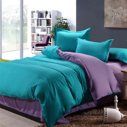 Wholesale Bedding Set Pieces Solid Color Brief Chic Style Sheet Duvet Cover Pillowcase Home Decoration Wedding Decoration