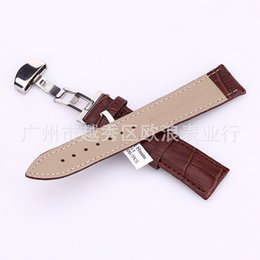 Wholesale mm Watch Band Strap Butterfly Pattern Deployant Clasp Buckle Leather