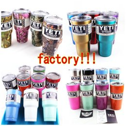 Wholesale 30oz oz oz Pink Yeti Coolers Cups YETI Rambler Tumbler Cup Cars Beer Mug Tumblerful Vacuum Insulated Stainless Steel Mugs Free Ship
