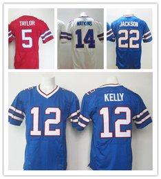 Wholesale 2016 Elite Buffalo American football jersey Bills Soccer rugby jerseys Taylor Watkins Kelly McCoy Reed Stitched Jerseys