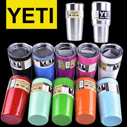 Wholesale colorful Yeti oz oz Cups Cooler YETI Rambler Tumbler Travel Vehicle Beer Mug Double Wall Bilayer Vacuum Insulated OTH242