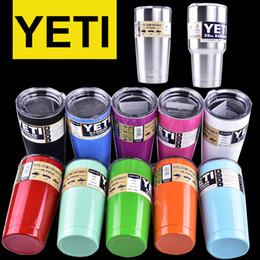 Wholesale colorful Yeti oz oz Cups Cooler YETI Rambler Tumbler Travel Vehicle Beer Mug Double Wall Bilayer Vacuum Insulated OTH242