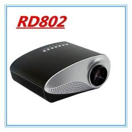 Vente en gros-2016 Livraison gratuite HD RD802 portable à bas prix portables Mini Pico Pocket Micro Pico multimédia vidéo Game Projector à partir de jeux vidéo bon marché fabricateur