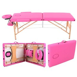 Wholesale Brand Portable Folding Massage Table Salon SPA Facial Therapy Tattoo Beauty Massage Bed with Carring Bag Furniture Wooden Bed