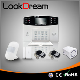 Update Home Wireless Security Alert System Electronic House GSM Burglar Alarm Low Consume Power By DHL