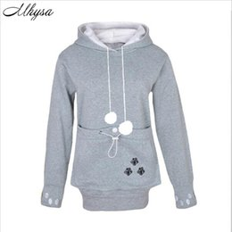 Canada Vente en gros - 2017 New Cartoon Hooded Hoodies Amant Cats Kangaroo Chien Hoodie Sweat à manches longues Sweat à capuche avant à l'oreille à l'occasion 020 sweatshirts ears deals Offre