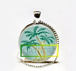 2017 colgantes tropicales Collar hecho a mano al por mayor de la palmera, joyería de Kitschy, arte tropical de la isla paraíso colgantes tropicales promoción