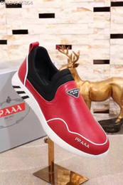 Caoutchouc respirante en Ligne-38-44 Haute qualité 2017 en gros de marque de mode 3 couleurs de chaussures en caoutchouc de sport et chaussures pour hommes respirant vraie chaussures en peau de mouton vraie