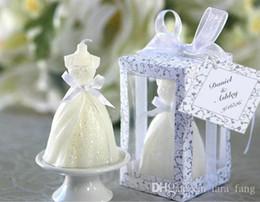 Compra Online Velas de cumpleaños barcos-2017 La oferta especial Velas llevó el partido del regalo del favor de la vela del arte del vestido de boda para el envío libre 12pcs / lot del cumpleaños de los recuerdos del huésped