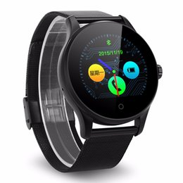 2017 new watch Excelvan K88H Smart Watch 1.22 Inch Round Screen Support Heart Rate Monitor Bluetooth smartWatch For apple huawei IOS Android