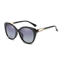 2017 gafas de diseño fresco Oversized Cool Shades Mujer Marca Gafas de sol de diseñador Gafas de sol Pearl polarizadas gafas de sol Marco Femenino UV400 gafas de sol Vintage Cat Eye gafas de diseño fresco en oferta