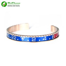Beichong Newest Fashion Rose Gold 316l Stainless Steel Speedometer Charm Cuff Pulseras Bracelets & Bangles Custom Wholesale