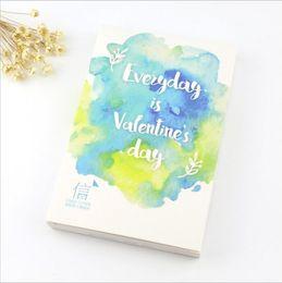 Wholesale Pack Gorgeous Watercolor Paintings Romantic Love Letters Postcard DIY Envelope Gift Card Mini Message Card Paper Bookmark