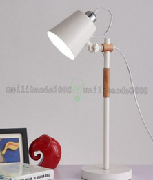 Wholesale Modern Study Room Table Lamp Art Brief Wood Metal Desk Lamp Living Room Office Lamp Project Table MYY
