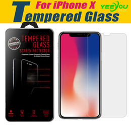 For Iphone X 10 8 Plus 7S 6 Tempered Glass Screen Protector Film For Galaxy J7 J3 Prime Google XL With Retail Package