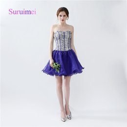 High Quality Fast Shipping A Line Sexy Cocktail Dresses 2017 Crystal Beaded Prom Gowns Sweetheart Lace Up Back Design