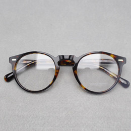 Wholesale 2017 brand designer Oliver Peoples women eyeglasses frame optical Round OV5186 Gregory Peck glasses prescription eyewear for men colors