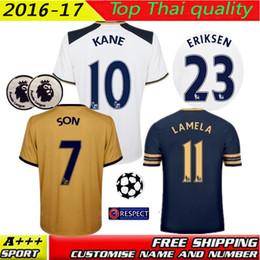 Wholesale Best Quality Walker Lennon KANE CHIRICHES LAMELA ERIKSEN CHADLI home away RD jerseys PAULIHO football shirt BIg size