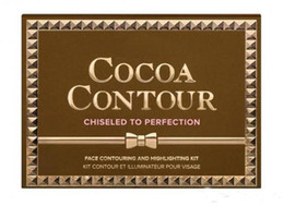 Wholesale HOT NEW COCOA Contour Kit Highlighters Palette Nude Color Cosmetics Face Concealer Makeup Chocolate Eyeshadow with Contour Buki Brush