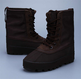 Wholesale Release date Hot Sale Kanye West shoes boost discount cheap boots men unisex High shoes duck Boots at dhgate
