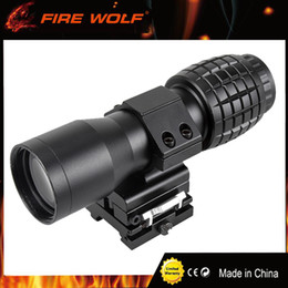 Tactical 5X Magnifier Rifle Scope with Flip to Side Mount Fit Aimpoint Scope Sight for Hunting