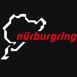 windows racing Promotion Cool Graphics Car Stying Nurburgring Funny Jdm Car Styling Race Car Track Window Sticker en vinyle Decorative Art Sticker Jdm