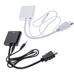 2017 convertisseurs vidéo Nouveau Mini HDMI mâle vers VGA femelle Video Converter adaptateur câble HD 1080P avec audio pour PC TV HDTV convertisseurs vidéo promotion