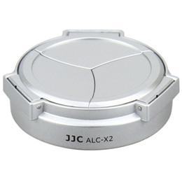 2017 cámara leica Venta al por mayor-JJC ALC-X2 negro de plata ABS auto-retención automática abrir Cerrar Lens Cap para LEICA X1 X2 Digtal Cámaras económico cámara leica