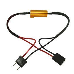 2017 las luces de carga FEELDO Car H7 Resistencia de carga de faros Lámparas de niebla Decodificador LED Canbus Resistencia de conexión Línea LED Luces de niebla Resistencia # 5340 las luces de carga limpiar