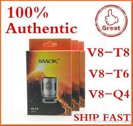 100% Authentic Smok TFV8 BABY Beast Tank Coils Head V8 Baby-T8 T6 X4 M2 0.15 0.25ohm Q2 0.4 0.6ohm