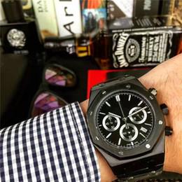 Promotion mens multi fonction Nouvelle Annonce Montres de Luxe pour Hommes Imported Quartz Mouvement Multi-fonction Mouvement Ream Acier Inoxydable Revêtement Verre Luxe montres-bracelets
