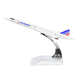 New hot sale The Air France F-BVFB Concorde 16cm Metal Airplane Models Child Birthday Gift Christmas Gift Plane Models Free Shipping