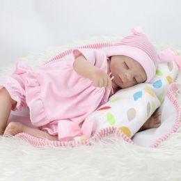 45cm Realistic Reborn Baby Doll Cloth Body Soft Silicone Vinyl Newborn Baby Kids Child Gift Nurse Mother Toys