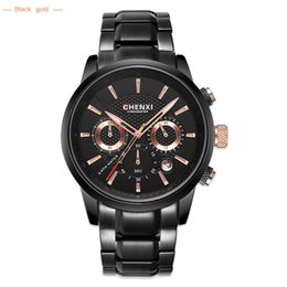 CHENXI Fashion Brand Men Quartz Watch Men Military Male Sports Full Stee Chronograph Waterproof Wrist Watches Relogio Masculino