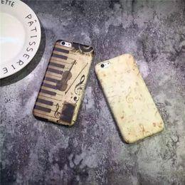 Wholesale Music Note Violin Piano Retro Case Cover For Apple iPhone S plus Case Luxury Series Hard Plastic Curve Back Cover