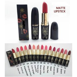 Wholesale Beautiful Spider web Non discoloring moisturizing lipstick color matte color matte lipstick DHL