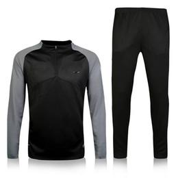 Machos negros en venta-Germain F.C 16-17 manga negra traje de prendas de vestir de prendas de vestir impresas traje de entrenamiento Traje hombres Trajes Trackring Hombre Hoodies mezcla de la orden