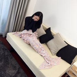 Wholesale Amazon wave stripe adicolo wave stripe Mermaid blanket blanket knitted blanket sofa TV