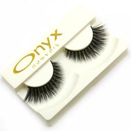 Acheter en ligne Cils de scène-Vente en gros - 1 paire de faux cils, maquillage de scène Gala maquillage professionnel faux cils paupières