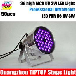 Wholesale TIPTOP X3W UV Led Par Cans Mini Size DMX512 Sound Auto Control Stage Background Decoration Lighting Built In Power Cable