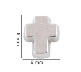 20PCS Silver Color Cross Floating Locket Charms DIY Accessories Fit For Living Glass Magnetic Memory Locket