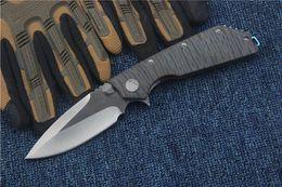 WEDGE 2017 2 tipos Microtech cuchillo de aleta de rodamiento de bolas Marfione Custome DOC plegable 100% D2 cuchilla EDC TC4 aleación de titanio mango AKC cuchillos desde bolas de rodamiento fabricantes