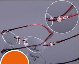 Wholesale HOT SALE Rimless Glasses For Men Myopia Frame Eye Wear Reading Glasses Plain Clear Lens Alloy Metal Gafas Acetic acid oculos de grau