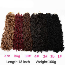 Mtmei 1 pack Crochet Braid hair 18 inch 100g pcs,24 strands pcs Faux Locs curly Synthetic Braiding Hair extensions