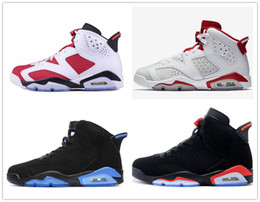 Classic 6 6s black blue infrared basketball shoes sneakers men white infrared sport blue carmine red oreo alternate men women