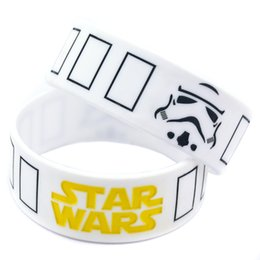 Wholesale Shipping New Arrival 50PCS Lot Star Wars Stormtrooper Mask Silicon Wristband Perfect To Use In Any Benefits Gift For Gamer