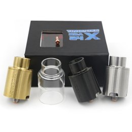 Wholesale Vaporizer Kennedy Trickster mm RDA Atomizer With Screaming Demon Cap and Glass Top cap and Squonker Pins Post Adjust Airflow Color DHL