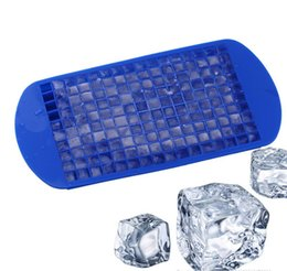 Wholesale 160Grids Small Ice Cream Mold Cube Mold Square Shape Silicone Ice Tray Fruit Ice Cube Maker Bar Kitchen Cooking Tool Accessories