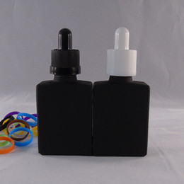 30ml frosted black glass dropper bottle with tamper childproof Skin care essential oil bottle package of 10 piece free shipping