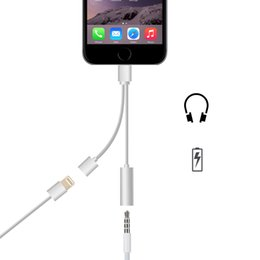 Wholesale Convertor USB Date cable for iPhone usb date cable to mm Headphone Headset adaptor charger charging earphone Cable
